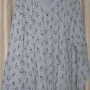 Пижама светло синя щампа